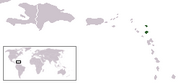 Antigua-et-Barbuda - Carte