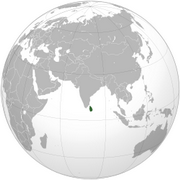 Democratic Socialist Republic of Sri Lanka - Location