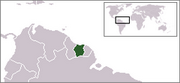 Republic of Suriname - Location